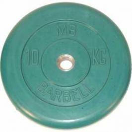 Диск обрезиненный MB Barbell 31 мм 10 кг зеленый