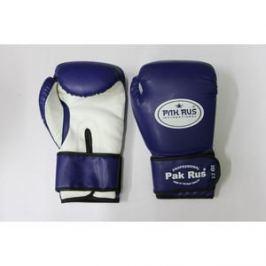 Перчатки боксерские Pak Rus 12 OZ . синие. PR-128881 (искуственная кожа)