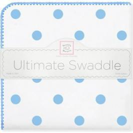 Пеленка фланель для новорожденного SwaddleDesigns Ultimate Big Dots Blue