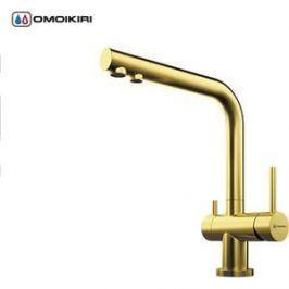 Смеситель для кухни Omoikiri Nagano-PVD-G (4994178) светлое золото