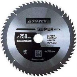 Диск пильный Stayer 250х32мм 60зубьев Super-Line (3682-250-32-60)