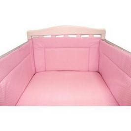 BamBola Бортик в кроватку Карамельки Бязь 43*360 Розовый 113
