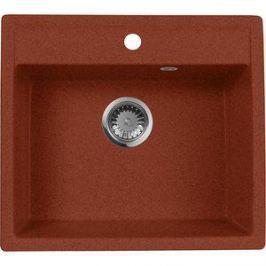 Кухонная мойка AquaGranitEx M-56 560х500 красный марс (M-56 (334))
