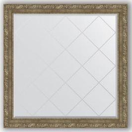 Зеркало с гравировкой Evoform Exclusive-G 105x105 см, в багетной раме - виньетка античная латунь 85 мм (BY 4446)