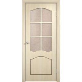 Дверь VERDA Лидия остекленная 1900х550 ПВХ Дуб белёный