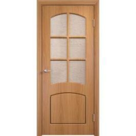 Дверь VERDA Кэрол остекленная 1900х600 ПВХ Миланский орех
