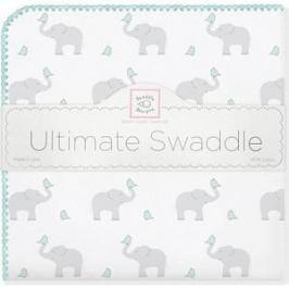 Фланелевая пеленка SwaddleDesigns для новорожденного SC Elephants/Chicks (SD-460SC)