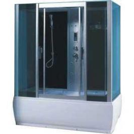 Душевая кабина Aqualux QUADRO 150х85 тонированное стекло/заднее стекло тёмное (AQ-4075GFH-Bl)
