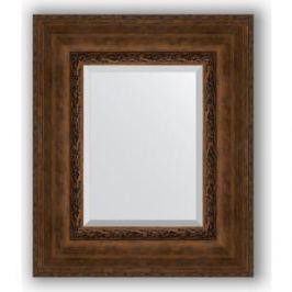 Зеркало с фацетом в багетной раме Evoform Exclusive 52x62 см, состаренная бронза с орнаментом 120 мм (BY 3377)