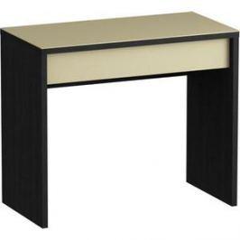 Письменный стол MetalDesign Кварт MD 771.01.10 корпус-черный/ стекло-крем
