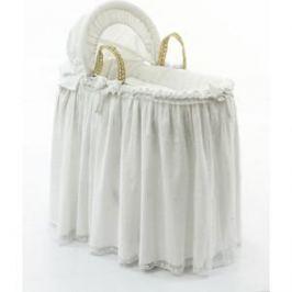 Корзина Fiorellino Premium Baby (Фиореллино Премиум Беби) плетеная с капюшоном белый