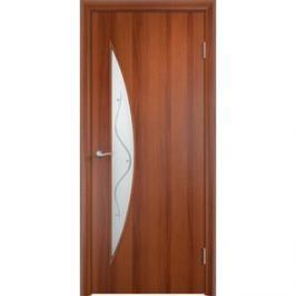 Дверь VERDA Тип С-6(Ф) остекленная 2000х400 МДФ финиш-пленка Итальянский орех