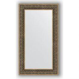 Зеркало в багетной раме поворотное Evoform Definite 63x113 см, вензель серебряный 101 мм (BY 3096)