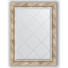 Зеркало с гравировкой поворотное Evoform Exclusive-G 63x86 см, в багетной раме - прованс с плетением 70 мм (BY 4091)