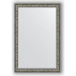 Зеркало с фацетом в багетной раме поворотное Evoform Exclusive 119x179 см, византия серебро 99 мм (BY 3624)