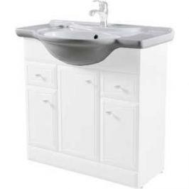 Раковина мебельная Am.Pm Bourgeois dreja керамическая полувстроенная 85 см белый глянец (M65WCC0852WG)