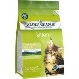 Сухой корм ARDEN GRANGE Kitten Grain Free Fresh Chicken&Potato беззерновой с курицей и картофелем для котят 2кг (AG611282)