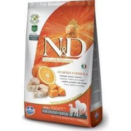 Сухой корм Farmina N&D Dog Medium&Maxi GF Pumpkin Codfish & Orange беззерновой с треской апельсином тыквой для собак средних и крупных пород 2,5кг