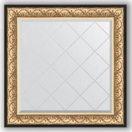 Зеркало с гравировкой Evoform Exclusive-G 90x90 см, в багетной раме - барокко золото 106 мм (BY 4337)