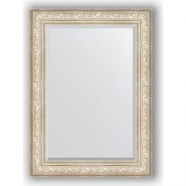 Зеркало с фацетом в багетной раме поворотное Evoform Exclusive 80x110 см, виньетка серебро 109 мм (BY 3478)
