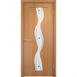 Дверь VERDA Вираж остекленная 2000х800 ПВХ Миланский орех
