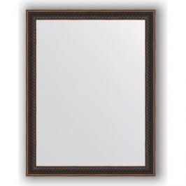 Зеркало в багетной раме Evoform Definite 35x45 см, витой махагон 28 мм (BY 1328)