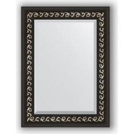 Зеркало с фацетом в багетной раме поворотное Evoform Exclusive 55x75 см, черный ардеко 81 мм (BY 1125)