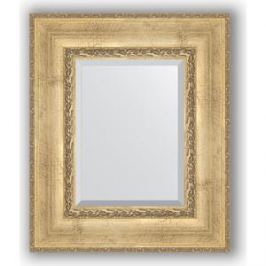 Зеркало с фацетом в багетной раме Evoform Exclusive 52x62 см, состаренное серебро с орнаментом 120 мм (BY 3376)