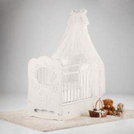 Островок уюта Кровать детская Карета (айвори) маятник поперечный с ящиком