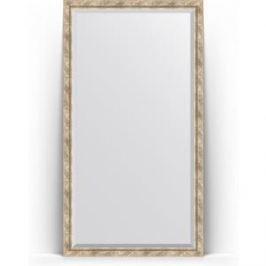 Зеркало напольное с фацетом поворотное Evoform Exclusive Floor 108x198 см, в багетной раме - прованс с плетением 70 мм (BY 6144)