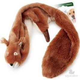 Игрушка GiGwi Dog Toys Squeaker белка с 2-мя пищалками для собак (75283)