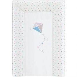 Матрас пеленальный Ceba Baby (Себа Беби) 70 см с изголовьем на кровать 120*60 см Kite bluepink W-201-070-023
