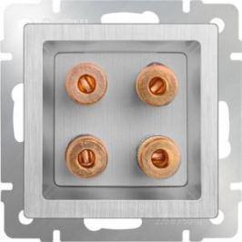 Акустическая розетка Werkel серебряная рифленая WL09-AUDIOx4