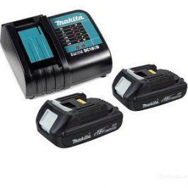 Зарядное устройство Makita DC18SD с 2 аккумуляторами 18В 1.5Ач BL1815N (197143-8)