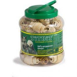 Лакомства TitBit Сухие лакомства из субпродуктов рогалики из кожи с начинкой для собак 4,3л (008096/0264)