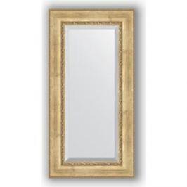Зеркало с фацетом в багетной раме поворотное Evoform Exclusive 62x122 см, состаренное серебро с орнаментом 120 мм (BY 3506)
