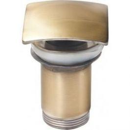 Донный клапан для раковины Kaiser квадрат, старая бронза Antique (8033An)