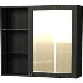 Зеркальный шкаф Меркана Маэстро 70 см, полки слева, розетка, темно-серый (30650)
