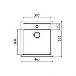 Мойка кухонная Lava Q1 465х505 чёрный (Q1BAS)