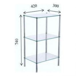 Трехэтажная стеклянная этажерка Fixsen (FX-9333)