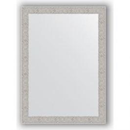 Зеркало в багетной раме поворотное Evoform Definite 51x71 см, волна алюминий 46 мм (BY 3038)