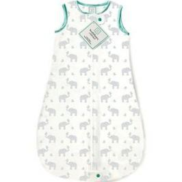 Спальный мешок SwaddleDesigns для новорожденного zzZipMe Sack 3-6M Flannel SC Elephant and Chickies (SD-462SC-3M)