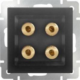 Акустическая розетка Werkel серо-коричневая WL07-AUDIOx4