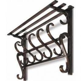 Вешалка настенная Мебелик В 7Н светло-коричневый