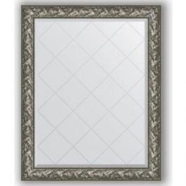 Зеркало с гравировкой поворотное Evoform Exclusive-G 99x124 см, в багетной раме - византия серебро 99 мм (BY 4372)