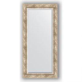 Зеркало с фацетом в багетной раме поворотное Evoform Exclusive 53x113 см, прованс с плетением 70 мм (BY 3485)