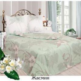 Комплект постельного белья Сова и Жаворонок Евро, бязь, трикотажная простынь на резинке, Жасмин, n70