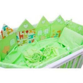 Комплект для овальной кроватки Valle Grace зеленый 8 пр. (VA92460)