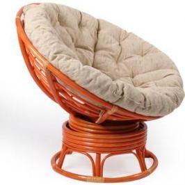 Кресло для отдыха Мебель Импэкс Papasan коньяк с подушкой