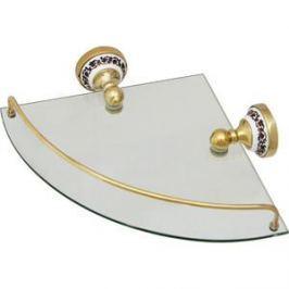 Полка стеклянная угловая 28x28x7 Fixsen Bogema Gold (FX-78503AG)